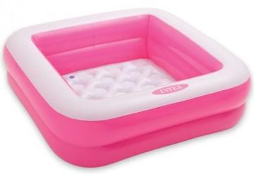 Nafukovací bazének pro děti - růžový, 85x85x23cm