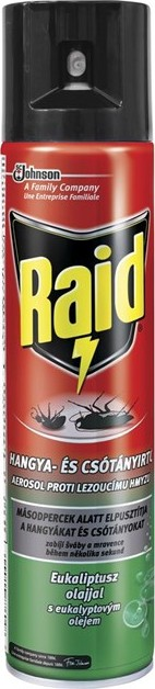 Raid - aerosol proti lezoucímu hmyzu s eukalyptovým olejem, 400ml