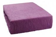 Frottír lepedő 160x200 cm - bogáncs lila
