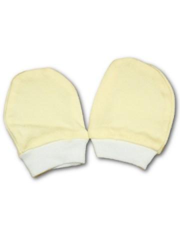 Rukavičky pro novorozence žluté