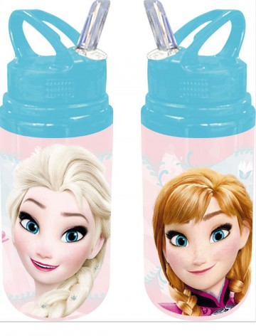 ALU láhev s brčkem Ledové Království růžová 500 ml