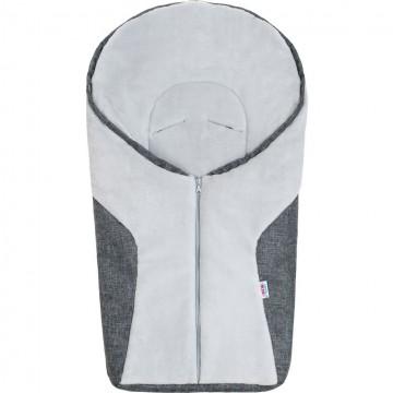Luxusní zimní fusák New Baby Car grey