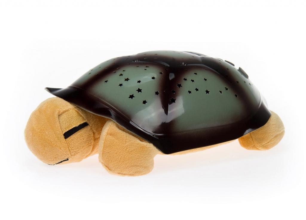 Zenélő világítos teknős - barna
