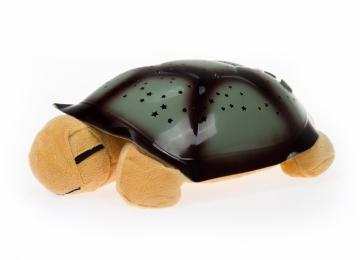 Magická želvička - projektor hvězd, hrající - hnědá