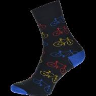 Ponožky Kolo, černé - 1 pár, velikost 39-42