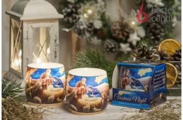Vonná svíčka ve skle - Vánoční noc, 100g