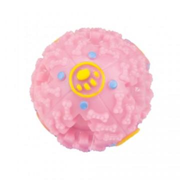 Pískací míček pro pejsky - růžový