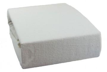 Prostěradlo froté 90x200 cm - bílé