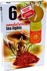 Lumânări pastile 6 bucăți –  Lemn de santal