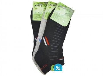 Pánské kotníkové bambusové ponožky NaiGe NM30114 - 3 páry, velikost 43-47