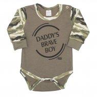 Kojenecké body s dlouhým rukávem New Baby Army boy