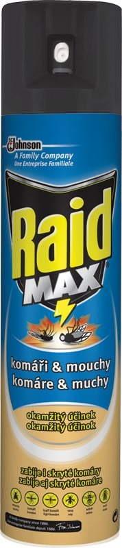 Raid MAX - proti komárům a mouchám, 300ml