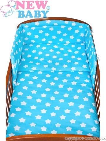 3-dílné ložní povlečení New Baby 90/120 cm hvězdičky tyrkysové