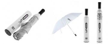 Elegantní deštník v láhvi - bílý
