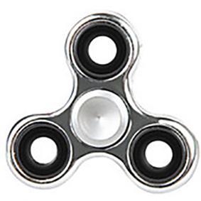 Fidget spinner - kovový, lesklý - stříbrný