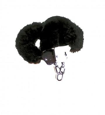 Plyšová pouta - černá