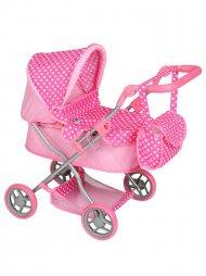 Mély kocsi babáknak PlayTo Viola világos rózsaszín