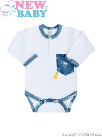Dojčenské body New Baby Light Jeansbaby biele