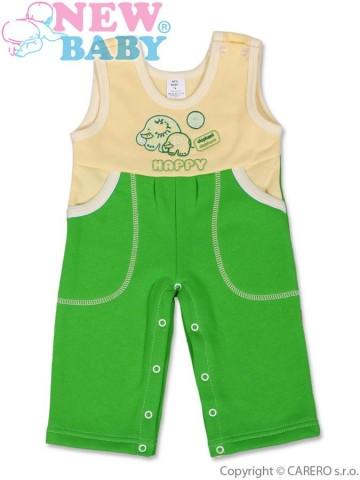 Dětské lacláčky New Baby Happy zelené