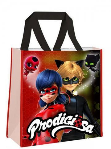 Dětská nákupní taška Kouzelná Beruška a Černý kocour 38 cm