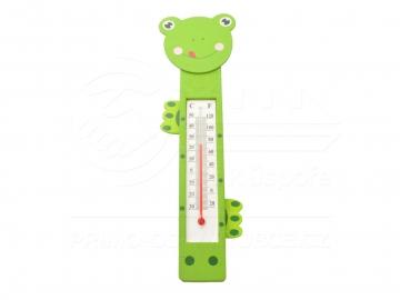 Fa gyermek hőmérő - béka