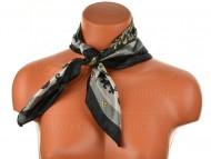 Malý šátek s královskou bordurou, 55x55cm - černý