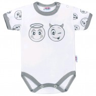 Kojenecké bavlněné body s krátkým rukávem New Baby Emotions