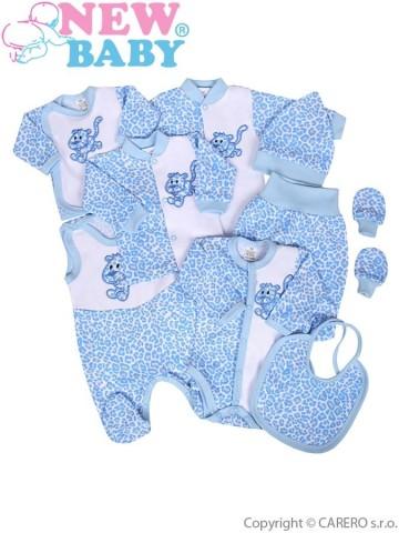 9-dielna súprava do pôrodnice New Baby Leopardík modrá