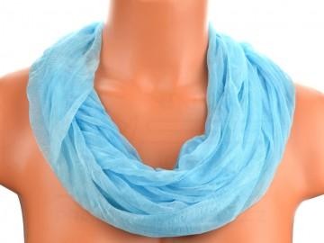 Šátek tunel batika - světle modrý
