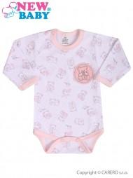 Csecsemő hosszú ujjú body New Baby Aranyos maci rózsaszín