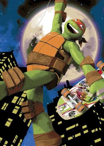 Dětský koberec Želvy Ninja Mike Skate 95/133