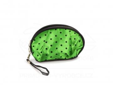 Kosmetická taška puntíky - zelená