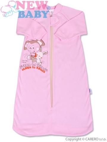 Dojčenský spací vak New Baby ružový