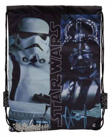 Taška na tělocvik a přezůvky Star Wars Black 40 cm