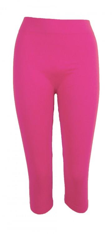Női 3/4 leggings - rózsaszín, méret M/XL