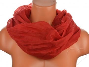 Dámský jednobarevný tunelový šátek - červený