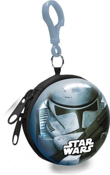 Dětská kovová peněženka s karabinou Star Wars Stormtrooper