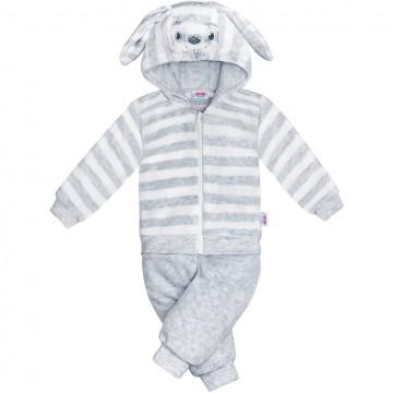 2-dielna semišková súpravička New Baby Rabbit šedá