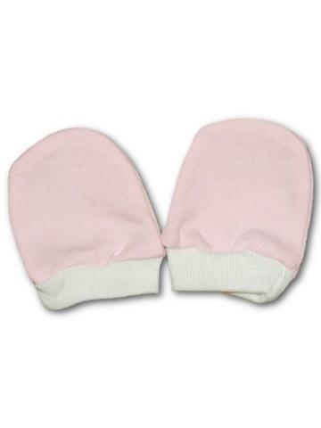 Rukavičky pro novorozence růžové