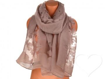 Dámský jednobarevný šátek - hnědý