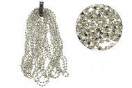 Vánoční řetěz (2.7m) - Stříbrné diamanty