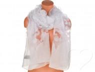 Dámský jednobarevný šátek - bílý