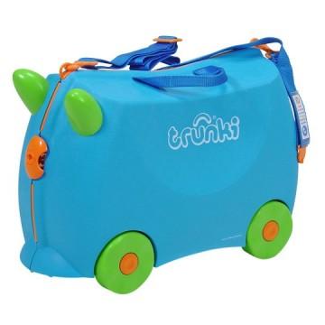 Dětský kufr TRUNKI - modrý