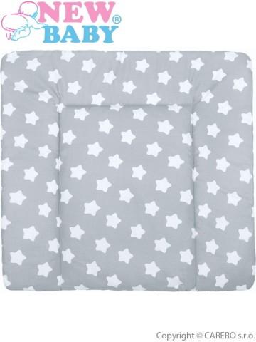 Bavlněná přebalovací podložka 70x65 New Baby hvězdičky šedá