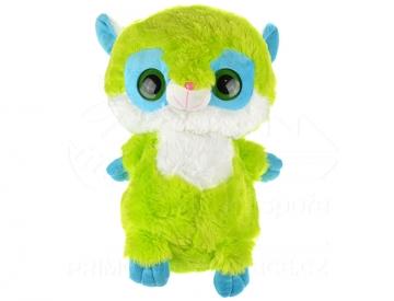 Plüss nagy szemekkel - zöld 40 cm