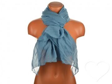 Letní šátek jednobarevný - modrošedý