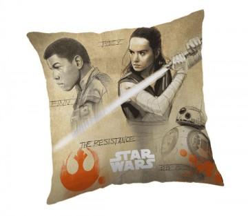 Povlak na polštářek Star Wars 8 Finn a Rey micro 40/40