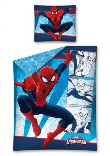 Povlečení Spiderman modré 140/200, 70/90