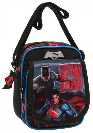 Taška přes rameno s kapsou Batman vs Superman 19 cm