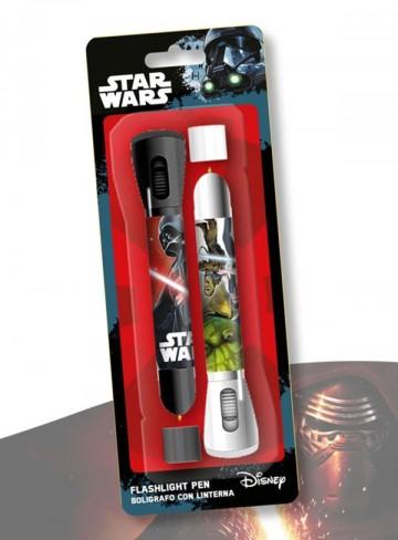 Dětská LED svítilna, baterka a propiska 2v1 Star Wars 2 ks